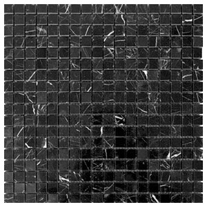 Nero Marquina Black Marble 5 8x5 8 Mosaic Tile Polished