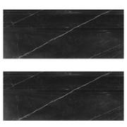 """Nero Marquina Black Marble 3/4"""" Baseboard Molding Polished"""