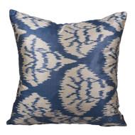 Ikat Pillow, Blue & White