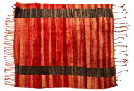 Beni Ourain Rug , Red and Brown