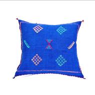 Sabra Throw Pillow, Cobalt  Blue 3