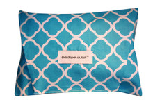 The Diaper Clutch - Turquoise Quatrefoil