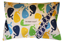 The Diaper Clutch - Blue Whales