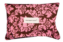 The Diaper Clutch - Pink Damask