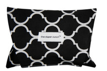 The Diaper Clutch - Black Quatrefoil