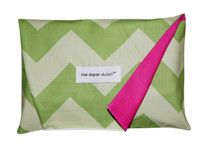 The Diaper Clutch - Lime Chevron