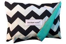 Diaper Clutch - Navy Chevron