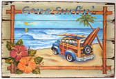 Gone Surfin' Printed Sign