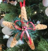 Sugar Starfish Pinecone Ornament