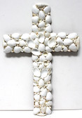 Large White Seashell Cross