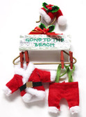 Wood Santa Suit Ornaments