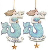 Metal Mermaid Ornaments