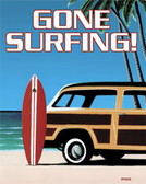 Gone Surfing Metal Tin Sign