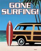 Gone Surfing Metal Tin Sign
