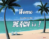 Home is where the BEACH is! Metal Sign