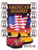 America's Highway Metal Sign