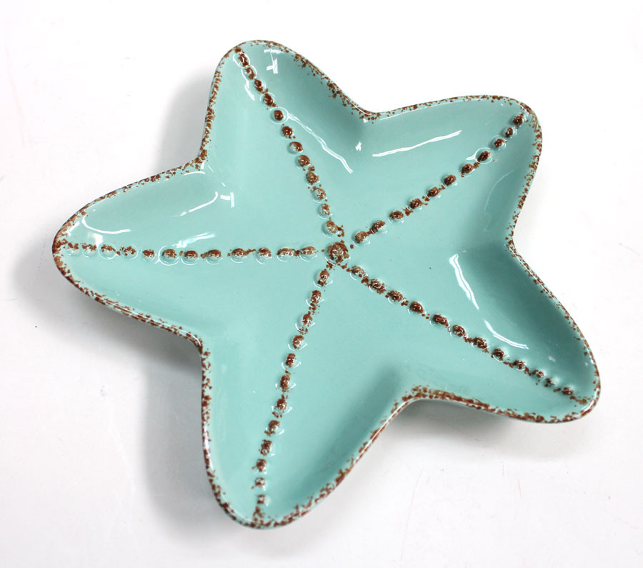 Handmade Ceramic Platter In Coastal Kitchen: Coastal Appetizer Or Salad Plate