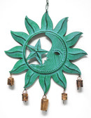Patina Sun, Moon & Star Wind Chime