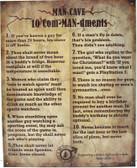 Man Cave 10 ComMANdments Metal Sign