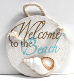 Circle Resin Welcome Sign