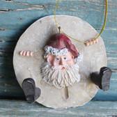 Resin Sand Dollar Santa Front