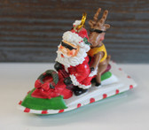 Santa Claus on a Jet Ski Ornament