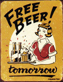 Free Beer! Metal Sign