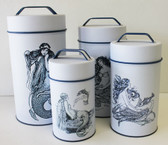 Mermaid Cylinder Tins (Food Safe) - Set of 4