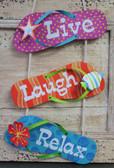 Live Laugh Relax Flip Flops
