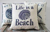 Life's a Beach Seashell Pillow