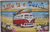 Life is a Beach Bus Sign