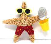 Beach Boy Starfish with Bucket and Red Shorts