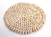 "8"" Cowrie Seashell Hot Plate"