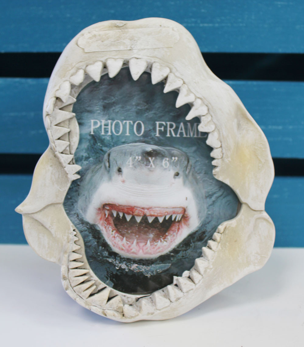 Shark Jaw Picture Frame Nautical Photo Frame
