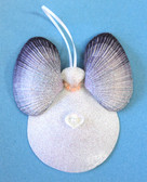 Lavender Wing - White Sun Moon Shell Angel Ornament