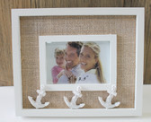 White Anchor Picture Frame