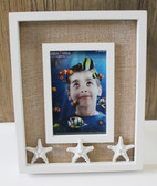 4x6 White Bumpy Starfish Picture Frame