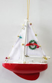 Red Sailboat Ornament