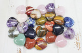 Small Stone Hearts - Multi Colors (25 Pieces)