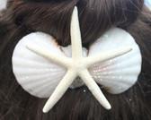 White Finger Starfish Hair Clip