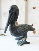 Dark Green Iron Pelican Figure
