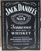 Jack Daniels Black Metal Sign