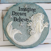 Imagine, Dream, Believe - Mermaid Stepping Stone