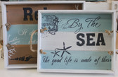 By the Sea Wood Trays - Set of 2