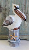 Wood Pelican on Post