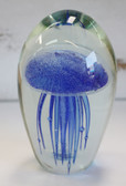 Dark Blue Glass Jellyfish