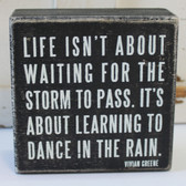 Life Isn't About Waiting for the Storm to Pass, It's About Learning to Dance in the Rain - Vivian Greene