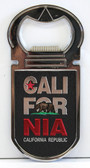 Black California Republic Bottle Opener Magnet
