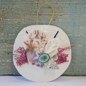 Keyhole Sand Dollar Sea Fan Collage Ornament