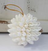 White Bubble Shell Ball Ornament